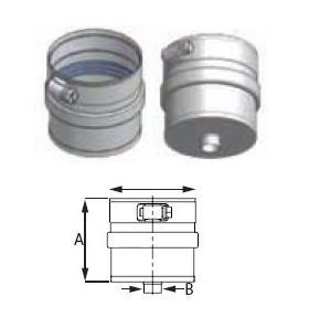 "M&G DuraVent 12"" FasNSeal Drain Fitting - FSDF12"