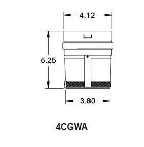 """Metal-Fab Corr/Guard 4"""" D Weil-Mcclain Adapter - Value - 4CGVWA"""