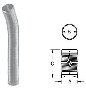 """DuraVent 8"""" DuraLiner Round-To-Round Flex Pipe 36"""" - 4836-F"""