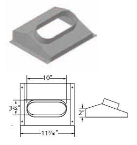 M&G DuraVent 11'' Ventinox Oval Insert Boot - DCF-RO // 8VG-OB