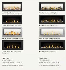 Napoleon Acies L38 - L50 Direct Vent Gas Fireplace Fronts