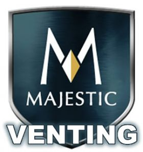 """Majestic 5x8 DVP - 6"""" (152mm) Length of Double Wall Vent Pipe - DVP6"""