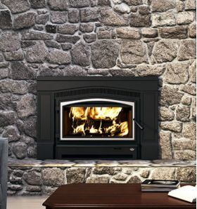 Osburn Matrix 2700 Wood Insert with Blower - Brushed Nickel Door Overlay - OB02700
