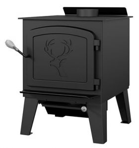 Drolet Black Stag II Wood Stove - DB03411