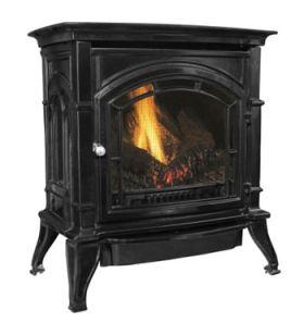 Ashley Hearth Products AC500VF Vent Free Gas Stove - Black - LP - AGC500VFBLP