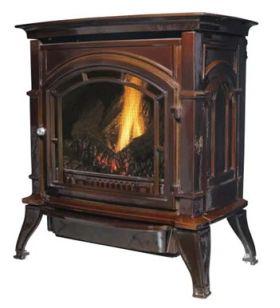 Ashley Hearth Products AGC500VF Vent Free Gas Stove - Mahogany - LP - AGC500VFMLP