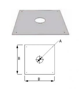 M&G DuraVent 10'' FasNSeal Firestop/Flat Flashing - FSFS10 // FSFS10