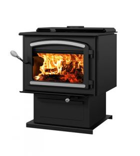 Drolet Escape 2100 Wood Stove Extra Large with Nickel Trims - DB03131