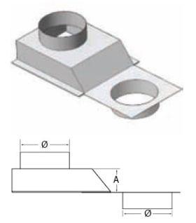 "M&G DuraVent 8"" Offset Slide Adapter - FA-8"