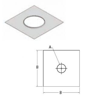"""M&G DuraVent 11"""" Ventinox Top Cover Plate - TKP-11"""