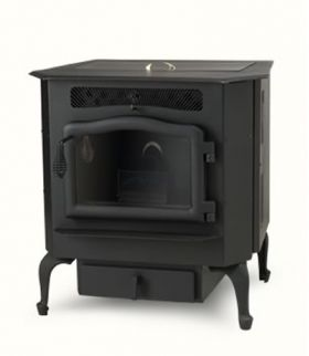 Country Flame Harvester Biomass/Multi-fuel Stove with Black Door
