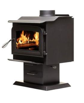 Ashley Hearth Products AW1120E-P EPA Certified Pedestal Wood Stove - AW1120E-P