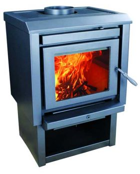 Bosca Wood Stove - Gold 400 BL Pedastal - BCWG400BL