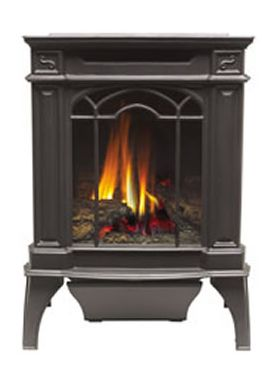 Napoleon GDS20 Arlington Black Cast Iron Gas Stove - GDS20