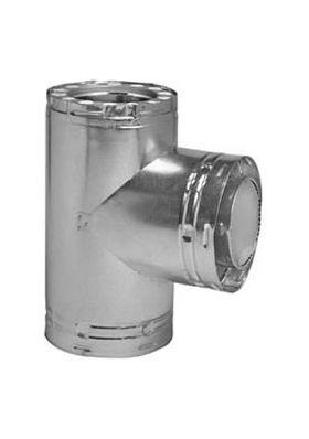 Metal-Fab Temp Guard Insulated Tee w/Tee Cap - 8TGGT