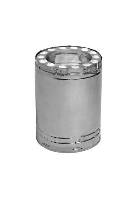 """Metal-Fab Temp Guard Chimney Pipe 12"""" x 12"""" Stainless Steel-12TGS12"""