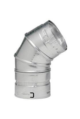 Metal-Fab B-Vent 45 Degree Adjustable Elbow - 12M45