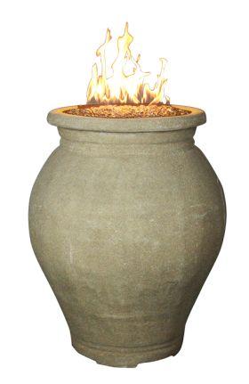 HomComfort 43,000 BTU Outdoor Gas Vase with Firestones - HCGV1
