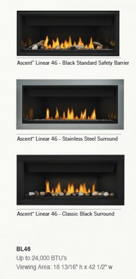 Napoleon Ascent Linear Bl46 Direct Vent Gas Fireplace