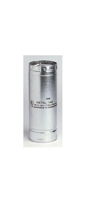 "Metal-Fab B-Vent 12"" Pipe Length - 12M12"