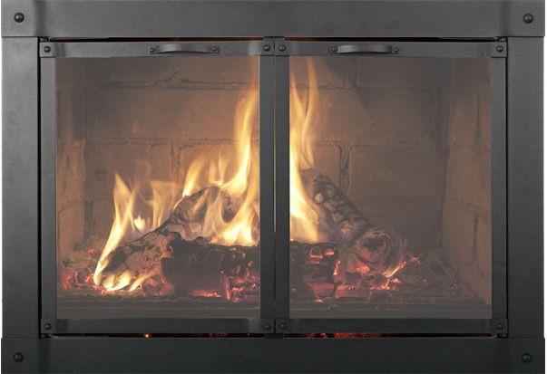 Fireplace Glass Doors Custom Thermo Rite Valencia Custom Glass